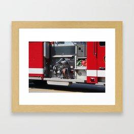 Perrysburg Fire Truck Hoses Framed Art Print