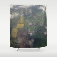england Shower Curtains featuring Goodbye England by Ashley Callan