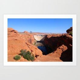 Glen Canyon Dam And Colorado River Art Print