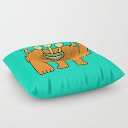 Monsticky Orange monster Floor Pillow
