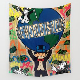 Monopoly man  the world is yours / Alec / Street art / Graffiti Wall Tapestry