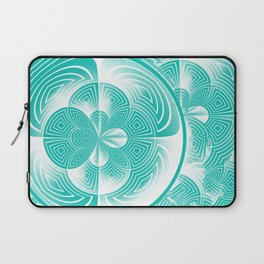 Light turquoise abstract Laptop Sleeve