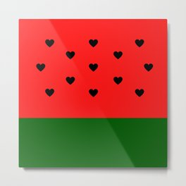 Watermelon Love Metal Print
