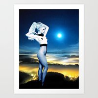 celestial Art Prints featuring Celestial by Danielle Tanimura