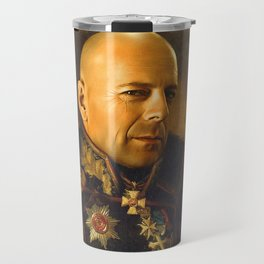 Bruce Willis - replaceface Travel Mug