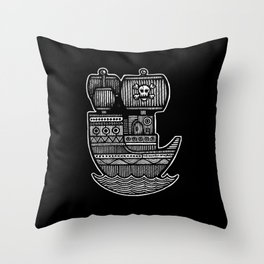 Pirate Ship - Scourge of Nurnen Throw Pillow