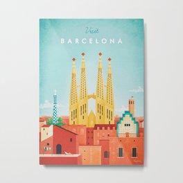 Barcelona Metal Print