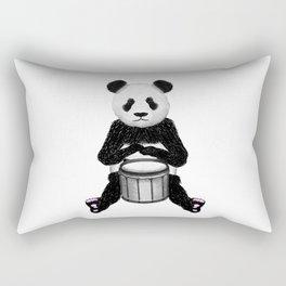 Panda Drummer Rectangular Pillow