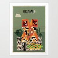 marx Art Prints featuring burle marx by federico babina