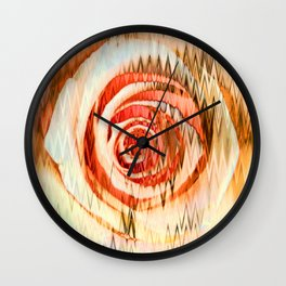 Jolted Rose Wall Clock