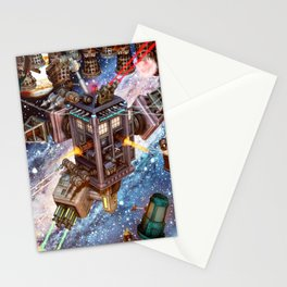 The Battle Of Tardis Art Stationery Cards