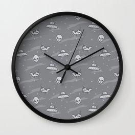 Vegan Alien (Grey) Wall Clock