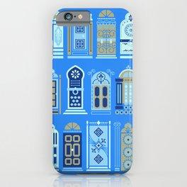Moroccan Doors – Cornflower Blue Palette iPhone Case