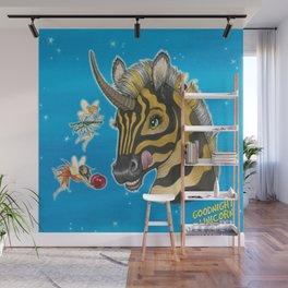 Goodnight Unicorn Zebra Wall Mural