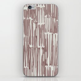 Simply Bamboo Brushstroke Red Earth on Lunar Gray iPhone Skin