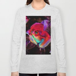 Red Colorful Rose Long Sleeve T-shirt