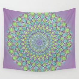 Purple Spirograph Mandala 0118 Wall Tapestry