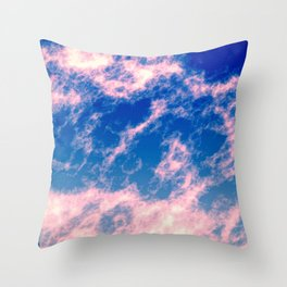 Pink clouds Throw Pillow