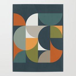 Mid Century Geometric 12/2 Poster