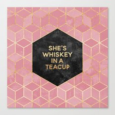 She's Whiskey In A Teacup Canvas Print