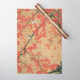 Flowers Japanese U-kiyo Wrapping Paper