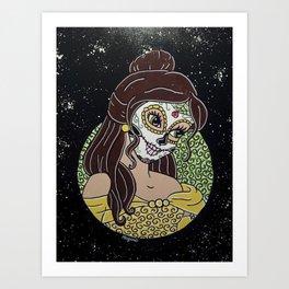 Belle Sugar Skull Art Print