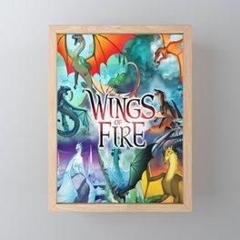 Wings Of Fire All Dragon Framed Mini Art Print