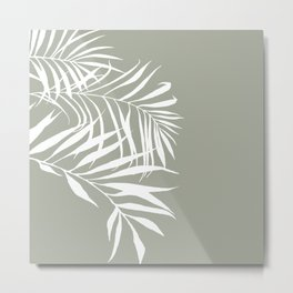 Hawaii Prints, Sage Green, Colour Prints Metal Print