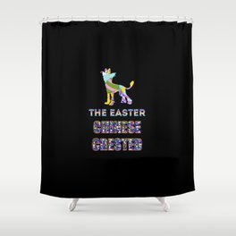 Chinese Crested gifts   Easter gifts   Easter decorations   Easter Bunny   Spring decor Shower Curtain