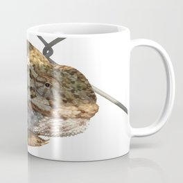 Chameleon Hanging On A Wire Fence Vector Coffee Mug