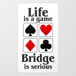 Bridge player gift, Bridge game. Contract Bride, Duplicate Bridge, Bridge lover, Bridge partner Art Print