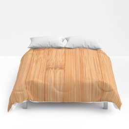 Cool elegant light brown bamboo wood print Comforters