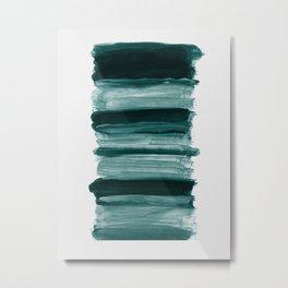 Abstract Minimalism Brushstrokes #1 #minimal #ink #decor #art #society6 Metal Print