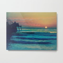 Bouncing Along The Ocean Waves ~ California Metal Print
