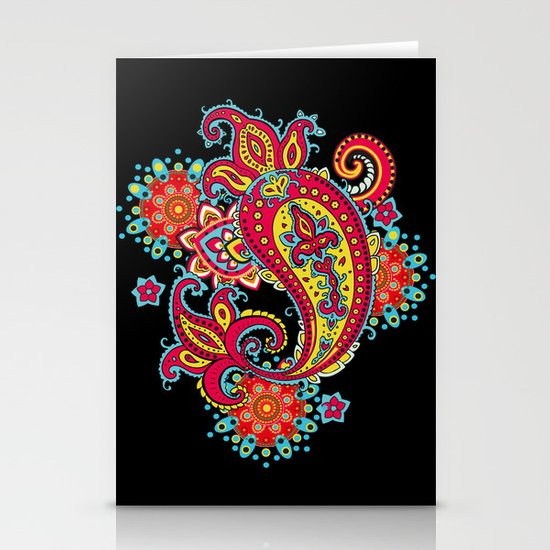 paisley exotique Stationery Cards