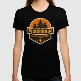 Retro Up North Wisconsin T-shirt
