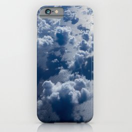 High Altitude Clouds Over Ocean Blue Fluffy Clouds iPhone Case