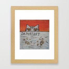 Pawprints Framed Art Print