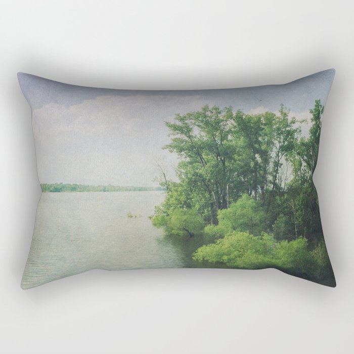 She Sat in the Sunshine and Watched the Clouds Rectangular Pillow
