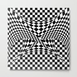 Twisted Checkers Metal Print