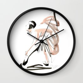 Gesture Dance Drawing Wall Clock