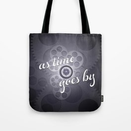 """""""As Time Goes By"""" - black and white vector artwork Tote Bag"""