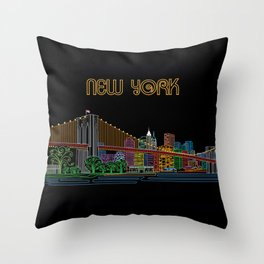New York Circuit Throw Pillow