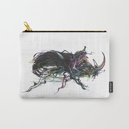 Beetle 1. Color & Black on white background Carry-All Pouch