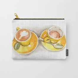 Yellow Coffee Cups Carry-All Pouch