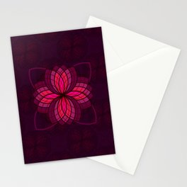pink mandala Stationery Cards