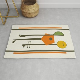 Mid-Century Modern Art Musical Strings Rug