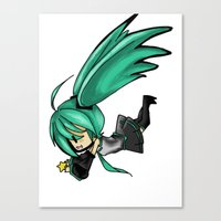 vocaloid Canvas Prints featuring Vocaloid by Niky Boo