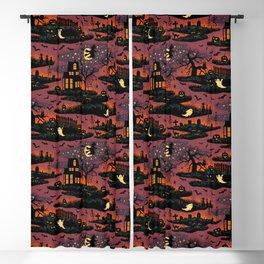 Halloween Night - Bonfire Glow Blackout Curtain