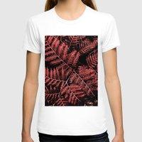burgundy T-shirts featuring Burgundy Bracken by Moonshine Paradise